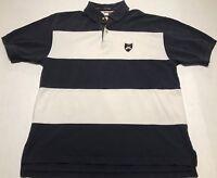 Vintage 90s Tommy Hilfiger Color Block Striped Big Rare Crest Logo Polo Size L
