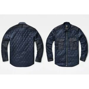 G-STAR D03475 BLUE DENIM TYPE C QUILTED JACKET PM SLIM OVERSHIRT NOW £130