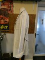 Vintage European White Long Chore Coat french german work wear Well Used (CC1)