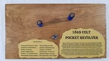 Wooden Display Plaque for 1849 Colt Pocket Pistol Black Powder Wall Gun Rack  10