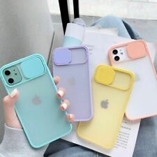 2020 Color Candy Soft Back Cover Camera Lens Protection Phone Case on For iPhone