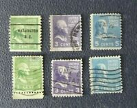 Y11, Sellos lot 6 stamp USA Washington, Jefferson, Monrroe usados