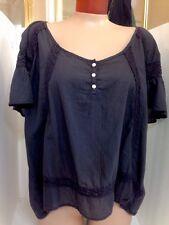 textile elizabeth and James Top NWT$143 XSML Dark Grey Cotton