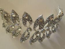 Vintage Wedding Bridal Silver Hair Comb Head Piece Headpiece Tiara Accessories