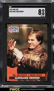 1991 Pro Set Football Bill Belichick ROOKIE RC #126 SGC 8 NM-MT