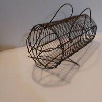 Vintage Primitive Wire  Egg Basket carrier Primitive Americana