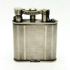 Vintage Dunhill Unique Curved Arm Silver Plate Liftarm Lighter CLEAN & WORKING