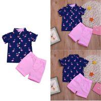 Baby Kids Boys Summer Clothes Short Sleeve Shirt Tops+Shorts Sets Casual Outfits