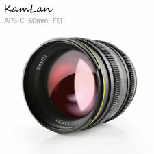 Kamlan 50mm Lens APS-C Large Aperture F1.1 Manual Focus for Sony E-Mount Camera
