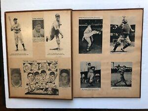 "1940s  WAR YEARS major league BASEBALL  "" SCRAPBOOK ""  ( LOTS of STARS )"