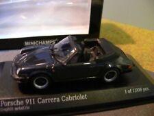 1/43 Minichamps Porsche 911 Carrera Cabrio 1983 graumetallic 430 062037