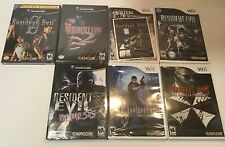 NINTENDO GAMECUBE & Wii RESIDENT EVIL 2, 3, 4, 0, ETC...COLLECTION! 7 NEW GAMES!