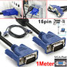 1.5M VGA/SVGA 15 PIN MALE TO MALE HDMI Video PC MONITOR TV LCD TFT CABLE LEAD