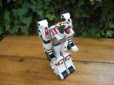 """Vintage Sabre Tiger Transformer Robot Toy 12"""" Plastic 80's"""