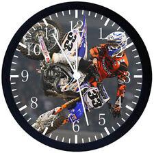 Motor Cross Black Frame Wall Clock E127