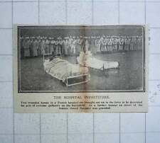1917 Two Wounded Heroes French Hospital Brought Out In Beds To Be Honoured