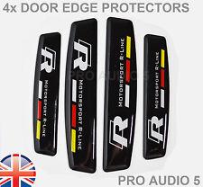4x R Motorsports Black Door Edge Protectors - UNIVERSAL  Car Van - VW R UK POST