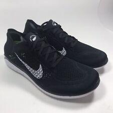 New Nike Free RN Run Flyknit 2018 Black White Running Shoes 942838 001 Men SZ 13