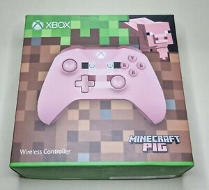 Microsoft Xbox One S Wireless Controller Minecraft PIG Special Edition. USED