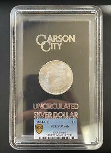 1884-CC Morgan Silver Dollar GSA Hoard PCGS MS-66, Beautiful High Grade Coin