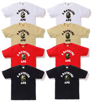 A BATHING APE Men's 1ST CAMO COLLEGE TEE 8colors From Japan New