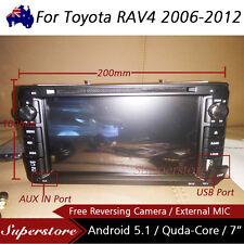 "7"" Android Quad Core Car DVD GPS PLAYER USB BLUETOOTH For Toyota RAV4 2006-2012"