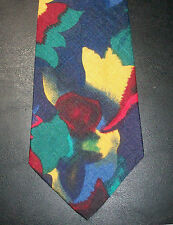 Bugle Boy Tie Red Yellow Blue Green Abstract NIB t1504