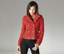 BNWT Ladies  Black & Red TG Double Breasted Military Jacket Coat 10 12 14 16 18