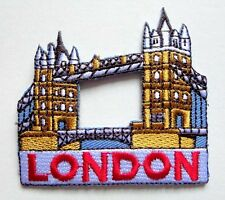 TOWER BRIDGE OF LONDON ENGLAND UK Embroidered Iron on Patch Free Shipping
