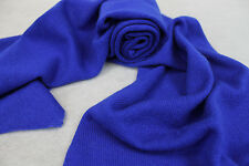 H52  NWT Gorgeous Blue Color Knitted 100% Pashmina Scarf Handmade In Nepal