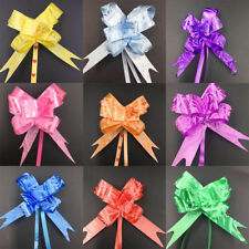 Pull bow Ribbon Gift wrapping, birthday parties, weddings decor 50 pack mixed al