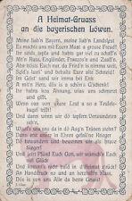 AK A Heimat-Gruass an die bay. Löwen, Feldpost, gelaufen 1915