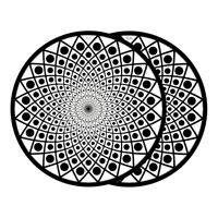 Glowtronics - Black Hole Glow In The Dark Slipmat Black / White