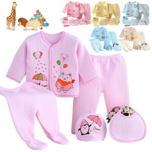 Newborn Clothes Infant Layette Set 0-3M Unisex Baby Girl Boy Outfits Shower Gift