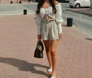 Topshop Linen Blend Shorts Size 6