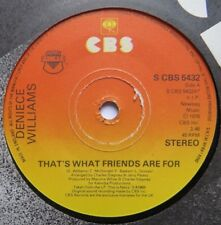 """DENIECE WILLIAMS - That's What Friends Are For - Excellent Condition 7"""" CBS 5432"""