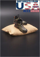 """1/6 Military Soldier Assault Combat Boots For 12"""" Male Figure U.S.A. SELLER"""