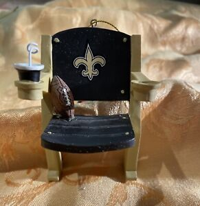 New Orleans Saints Christmas ornament stadium chair