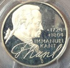 1974-D West Germany Proof 5 Silver Marks Emmanuel Kant PCGS PR68DCAM