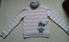 Girls Red Herring Cat Jumper Age 11-12 Years, VGC!!