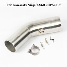 For Kawasaki Ninja ZX6R 2009-2019 Motorcycle Exhaust Muffler Middle Connect Pipe