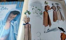 VTG 1940s McCALLS MAGAZINE Fashion Sewing Pattern Catalog Womens Interest 1949
