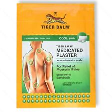 Tiger Balm Medicated Plaster Patch Muscle Ache Back Pain Relief, Warm, Cool