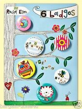 Set of 6 Rachel Ellen Badges Pins Books Clothes Shoes Bags Belts Girls Set Spark