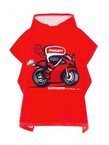 Official Ducati Corse Kid's Poncho Towel - 18 56005