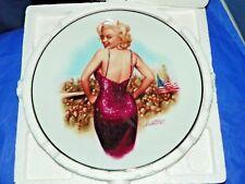 """Marilyn Monroe """"For Our Boys In Korea, 954 Delphi Plate 84-D19-12.1"""