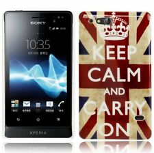 Hardcase Schutzhülle für Sony xperia Go / St27i Keep calm and carry on