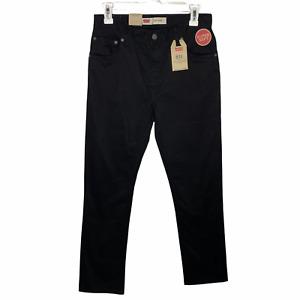 Levis Boys 511 Slim Fit Jeans 18 Black Super Soft Stretch Denim New
