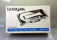 LEXMARK 20K1400 Toner Cyan/Blau für C510 Serien, ca. 6600 Seiten, NEUWARE, OVP