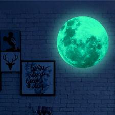 Wandtattoo Mond Vollmond Sterne Halbmond Wandaufkleber Deko Nacht leuchtend XXL